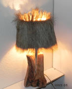 Wildschweinfell Lampe