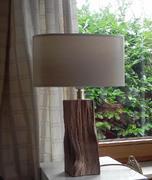 Holzlampe